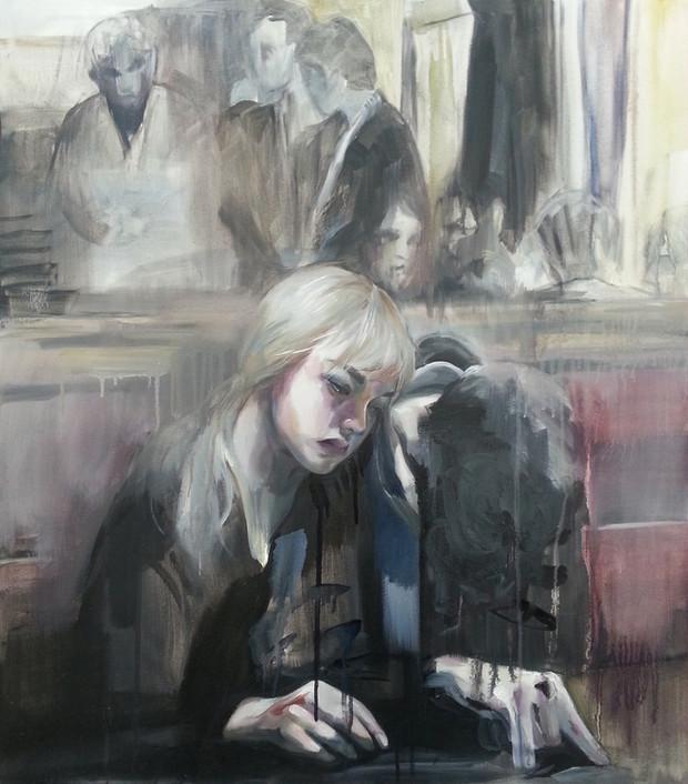 Self-Portrait oil on cavas, 80cm x 70cm