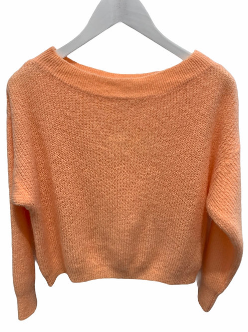 MILA BOATNECK KNITTED SWEATER LIGHT PEACH