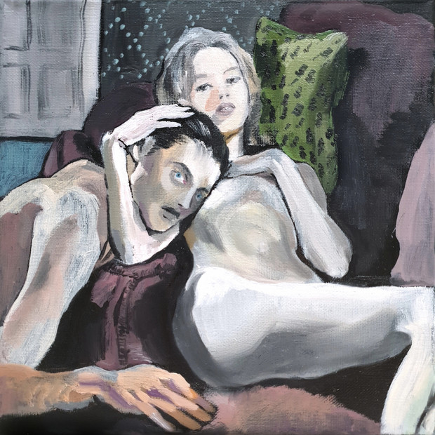 oil on canvas, 20cm x 20cm ref: Les Liaisons Dangereuses 1960