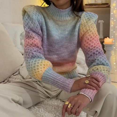 RAINBOW KNITTED SWEATER 9838