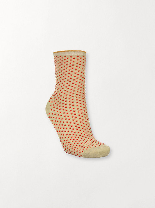DINA SMALL DOTS  SOCKS RED LOVE