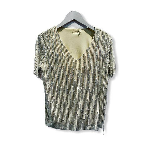 PARTY BLOUSE SILVER