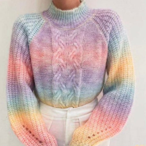 RAINBOW KNITTED SWEATER 9855