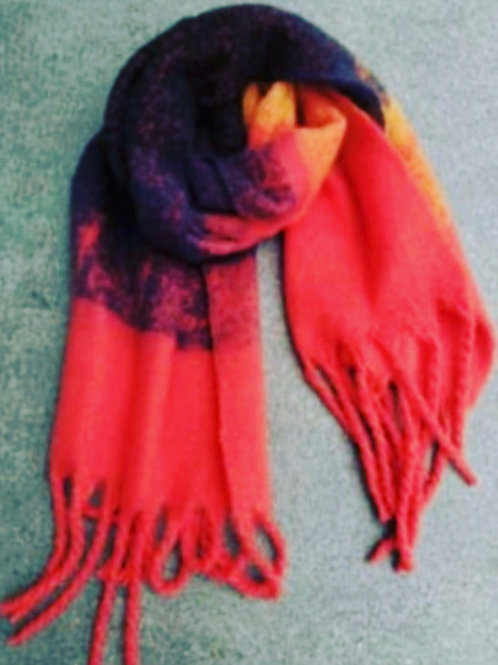 ANJA SCARF RED