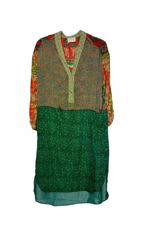 FLEUR DE LIS MIX CAFTAN DRESS 509