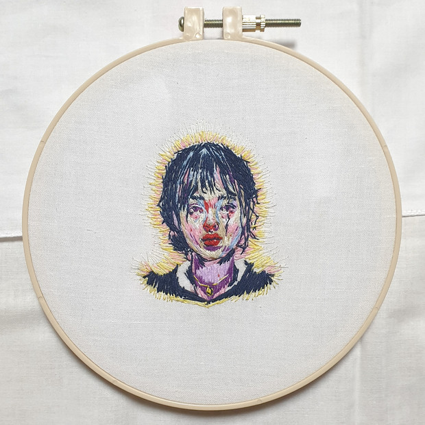 🔴 Embroidery self-portrait