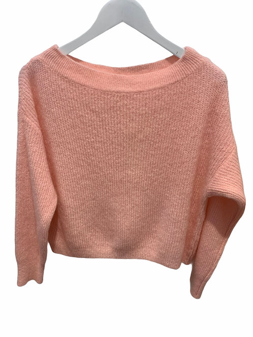 MILA BOATNECK KNITTED SWEATER ROSE