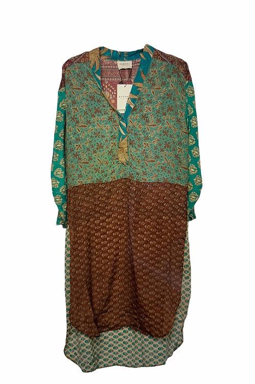 FLEUR DE LIS MIX CAFTAN DRESS 520