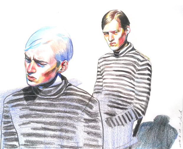 color pencil on paper model: Esbörn Grip