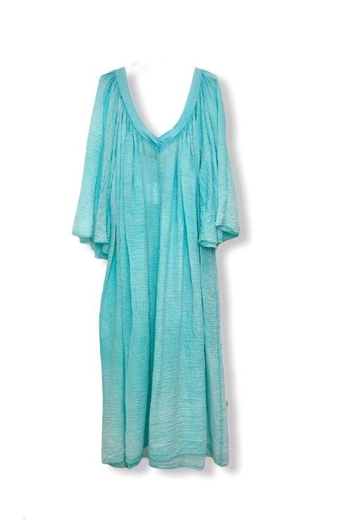 MARY TETRA DRESS TURQUOISE