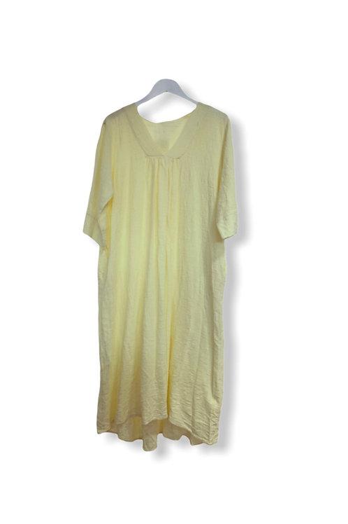 LIV COTTON DRESS SOFT YELLOW