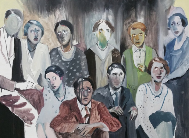 Scared People oil on canvas, 60cm x 80cm