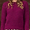 Thumbnail: ROUND NECK SWEATER RED CABBAGE