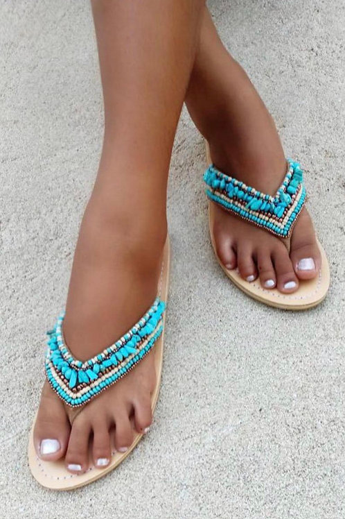 THONG INDY SLIPPERS TURQUOISE
