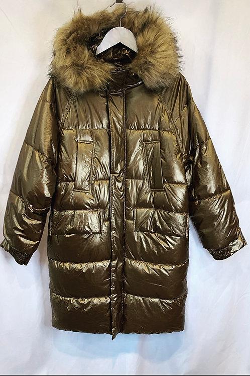 ROXY LONG PUFFER COAT GOLD