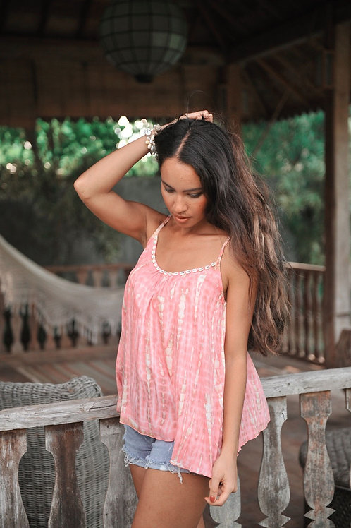 ANNA MOONSTONE TOP CORAL