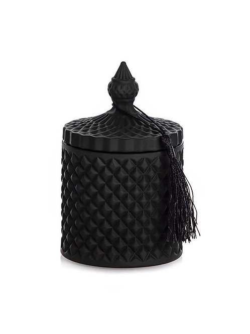 BAMBOO HANDMADE CANDLE BLACK  300ML