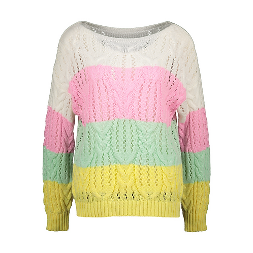 MYRTILLE KNITTED SWEATER WHITE