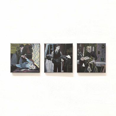 Dying Lover oil on canvas, 20cm x 20cm each