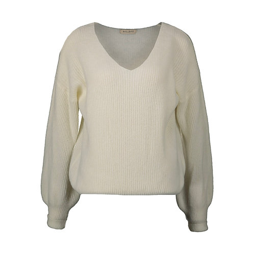 POIRE KNITTED SWEATER OFF WHITE