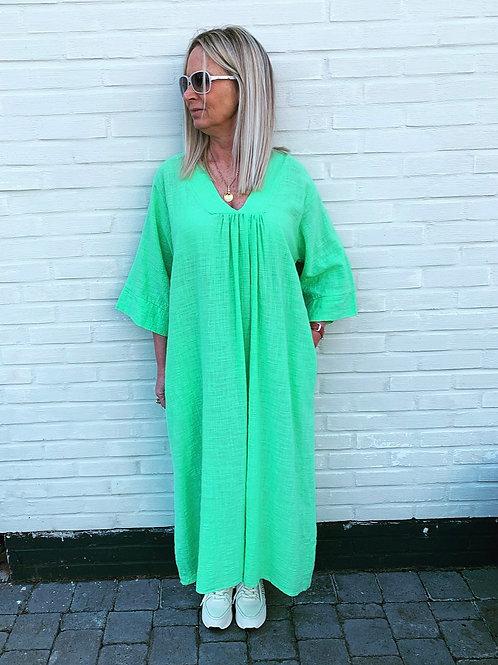 LIV COTTON DRESS APPLE GREEN