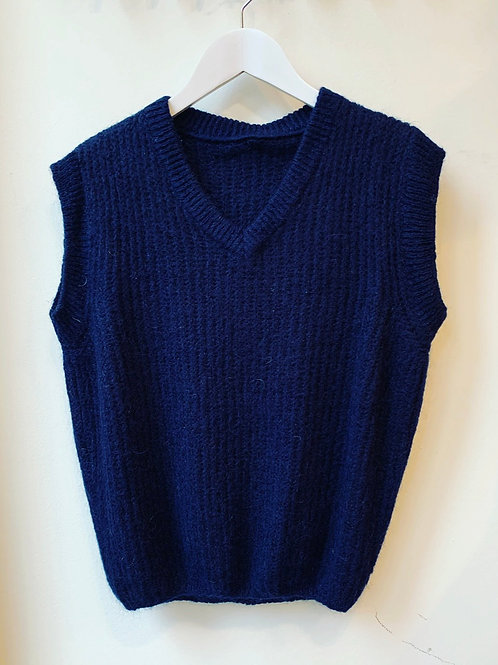 V-NECK DEBARDEUR DARK BLUE