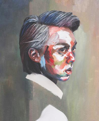 Collaboration Artwork with Helldog acrylic on skin
