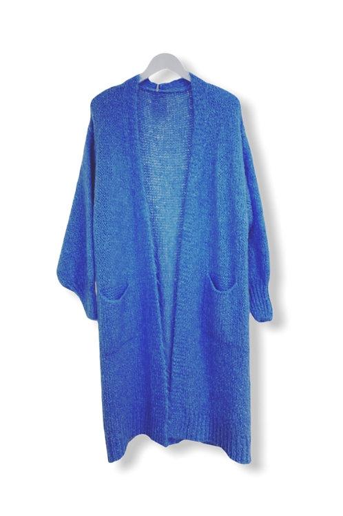 STELLA LONG CARDIGAN LAVENDEL BLUE