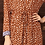 Thumbnail: GIRAFFE LONG DRESS COGNAC