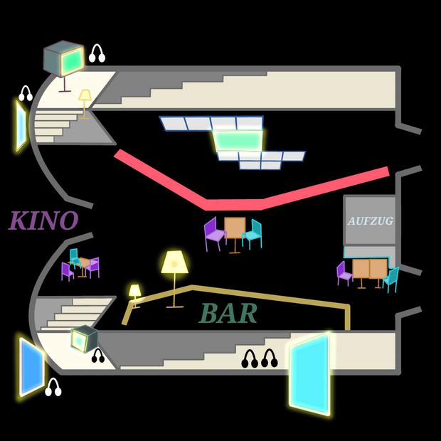 Kinemathek exhibition map