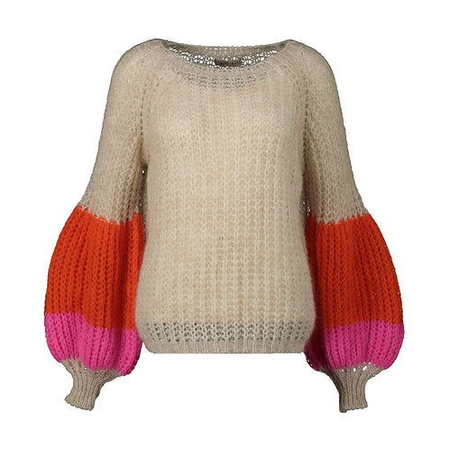 SANTA CLARITA KNITTED SWEATER BEIGE