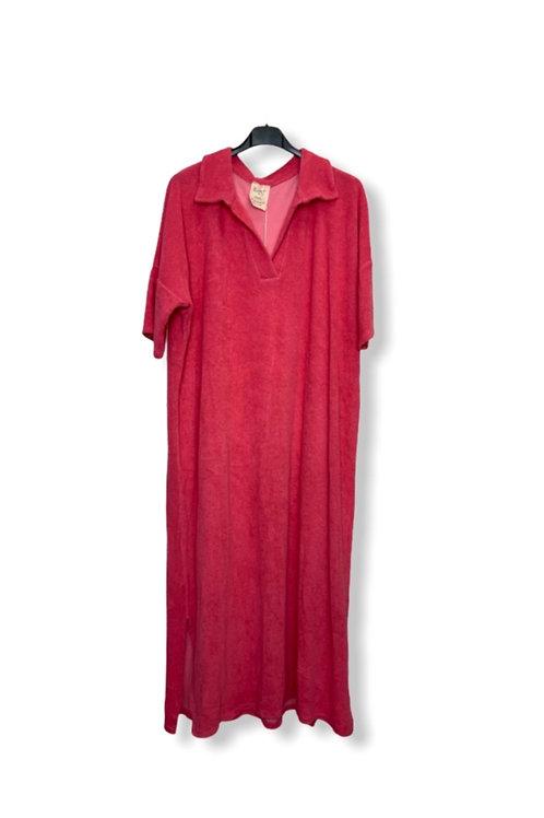 EVE TERRY DRESS FUCHSIA