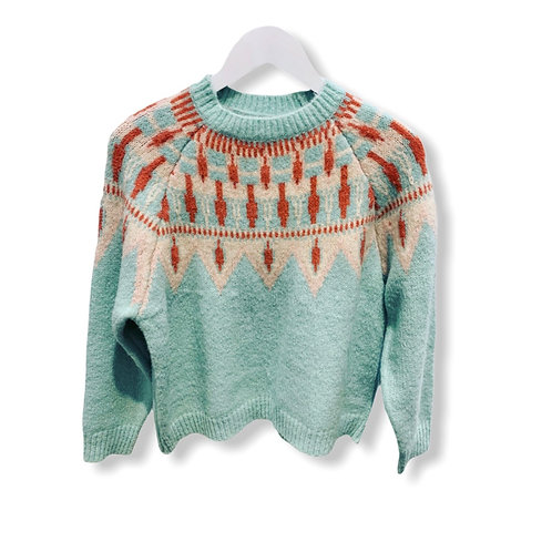 BISOU KNITTED 2114 SWEATER MINT