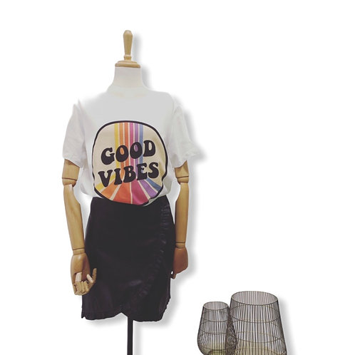 GOOD VIBES ONLY SHIRT WHITE