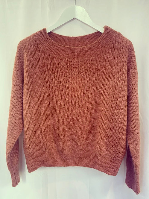 MILA BOATNECK SWEATER OLD PINK