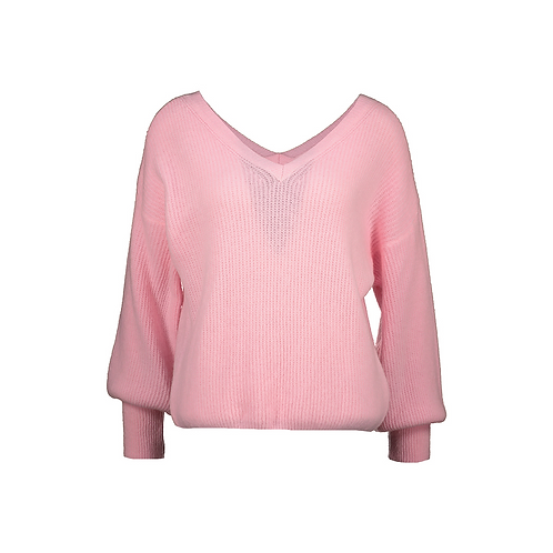 MELON V-V KNITTED SWEATER PINK
