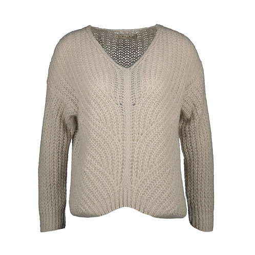 ABRICOT KNITTED SWEATER BEIGE