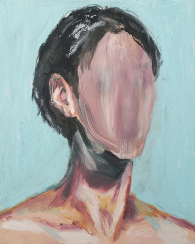 Portrait with No Face: 승기 oil stick on canvas panel