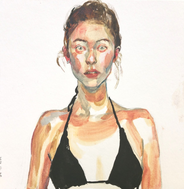 Allison oil on paper