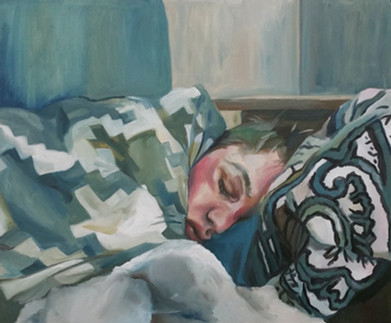 Sleeping Lover oil on canvas panel, 40cm x 50cm