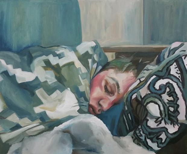 Sleeping Lover oil on canvas panel, 40cm x 50cm