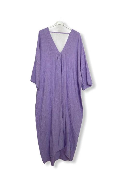ROMY COTTON DRESS LILAC