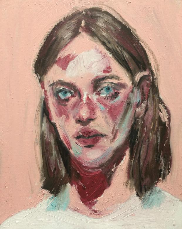 Susannah oil stick on canvas panel