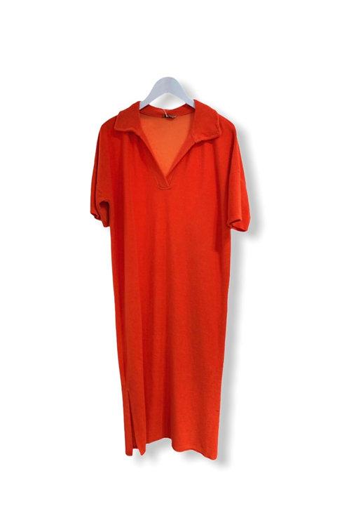 EVE TERRY DRESS ORANGE