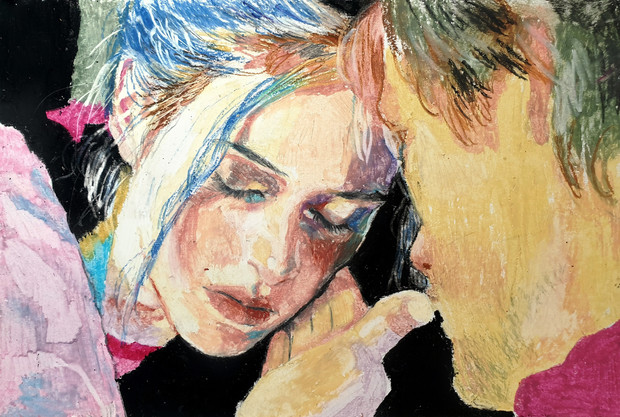 Eternal Sunshine of the Spotless Mind oil pastel on paper