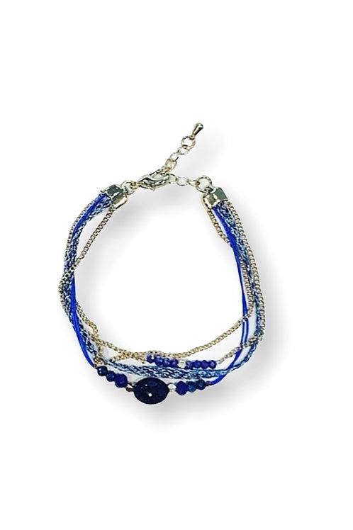 TWIST BRACELET BLUE