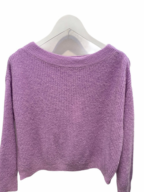 MILA BOATNECK KNITTED SWEATER LILAC