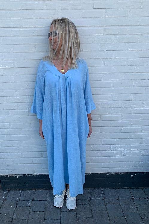 LIV COTTON DRESS LIGHT BLUE