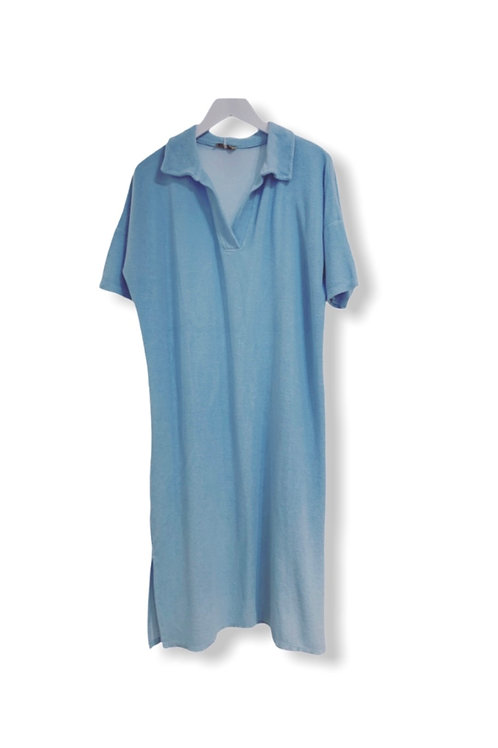 EVE TERRY DRESS LIGHT BLUE