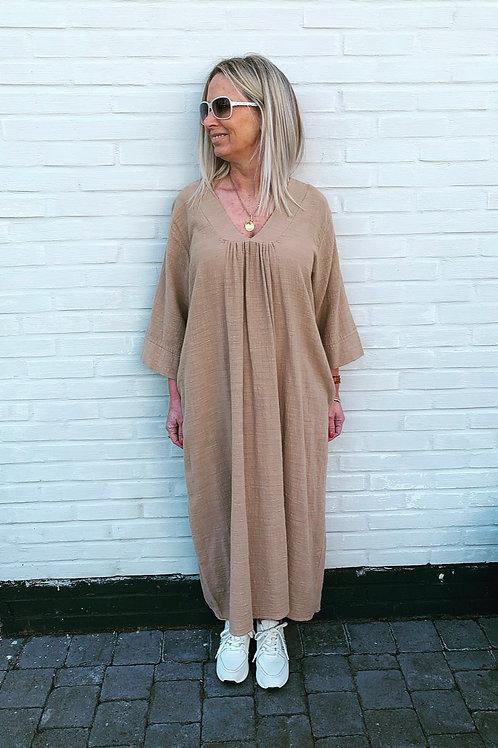 LIV COTTON DRESS CAMEL